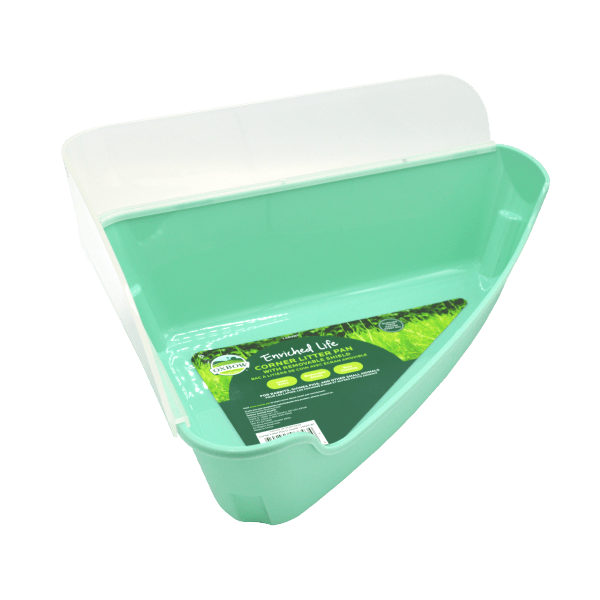 Enriched Life - Corner Litter Pan with Removable Shield